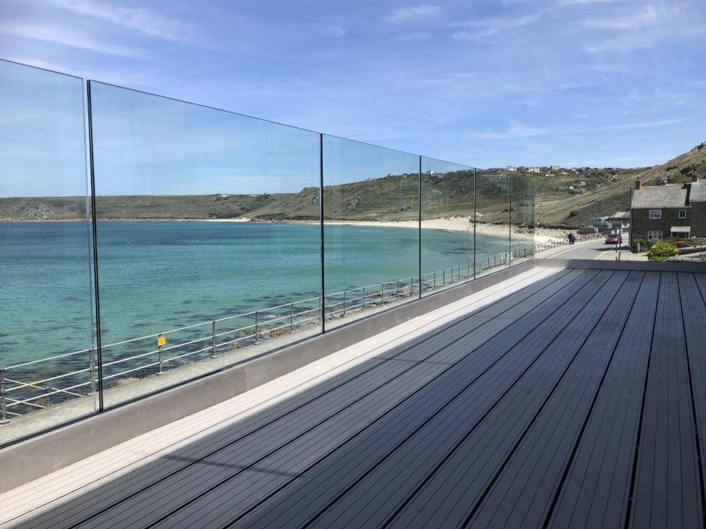 glass balcony Sennen